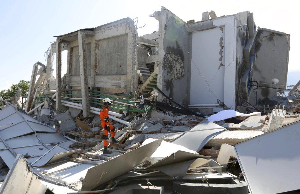 大批災民無家可歸。AP圖片