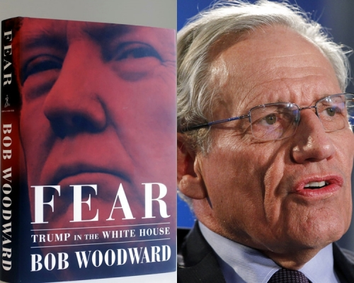 伍德沃德的《恐懼:特朗普在白宮》。AP