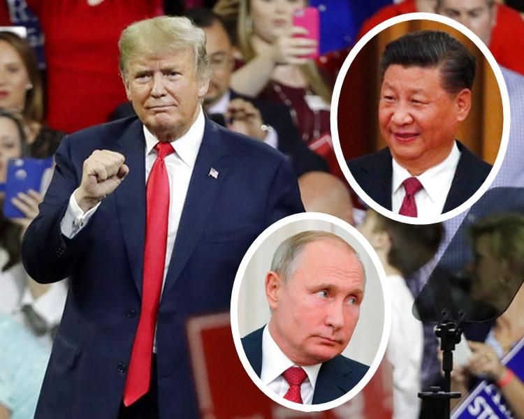 受訪者對特朗普的信心,低於習近平及普京。AP