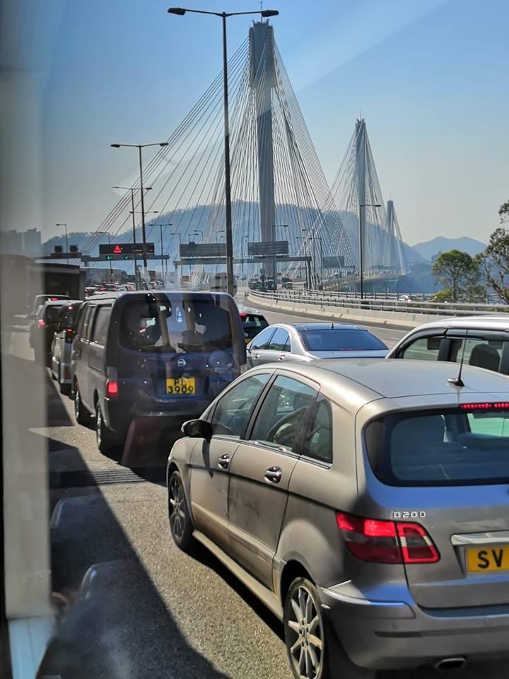 出九龍大塞車。圖:網民Rachel Kwan香港交通突發報料