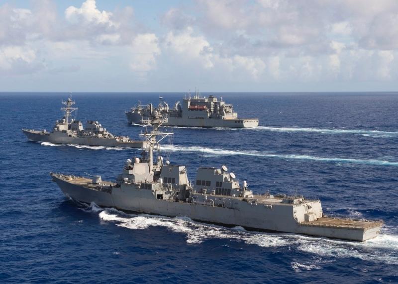 CNN報導,美軍將會在南海和台灣海峽,派出軍艦、戰鬥機及部隊進行自由航行。(網圖)
