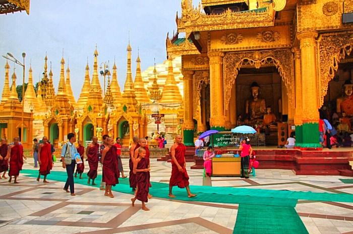 緬甸仰光大金寺。網上圖片