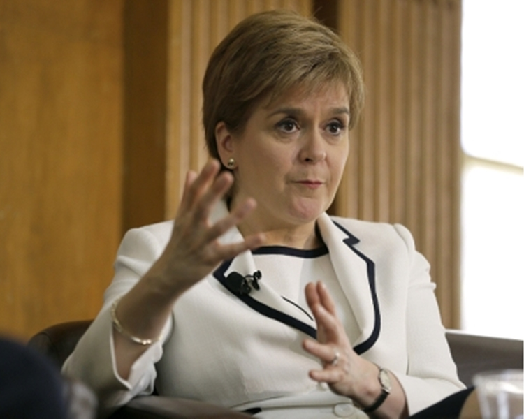 蘇格蘭民族黨黨魁施雅晴。AP資料圖片