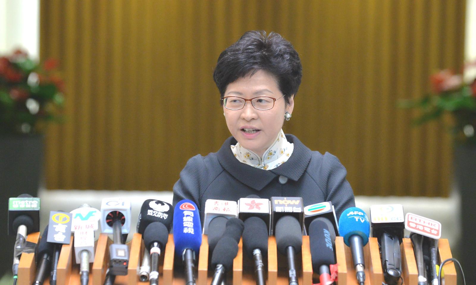 行政長官林鄭月娥支持度回升。
