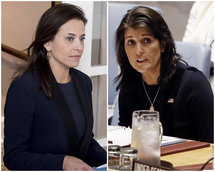 鲍威尔(左)或将接替黑莉(右)。