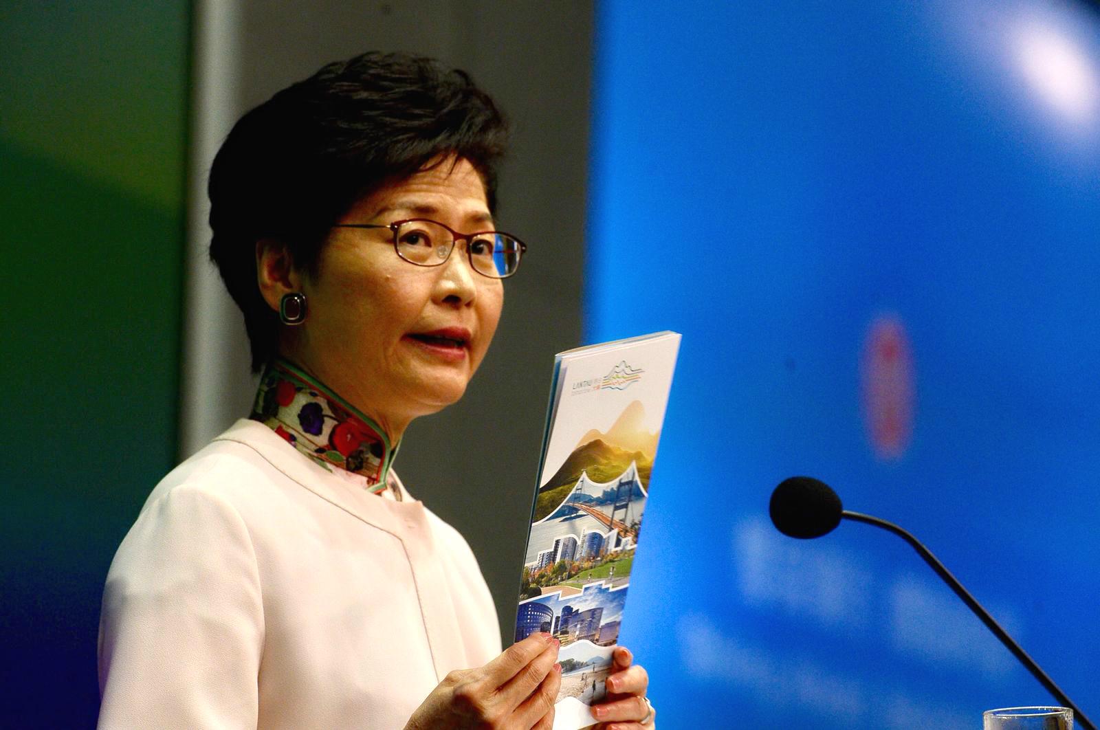 林鄭月娥呼籲支持填海計劃。