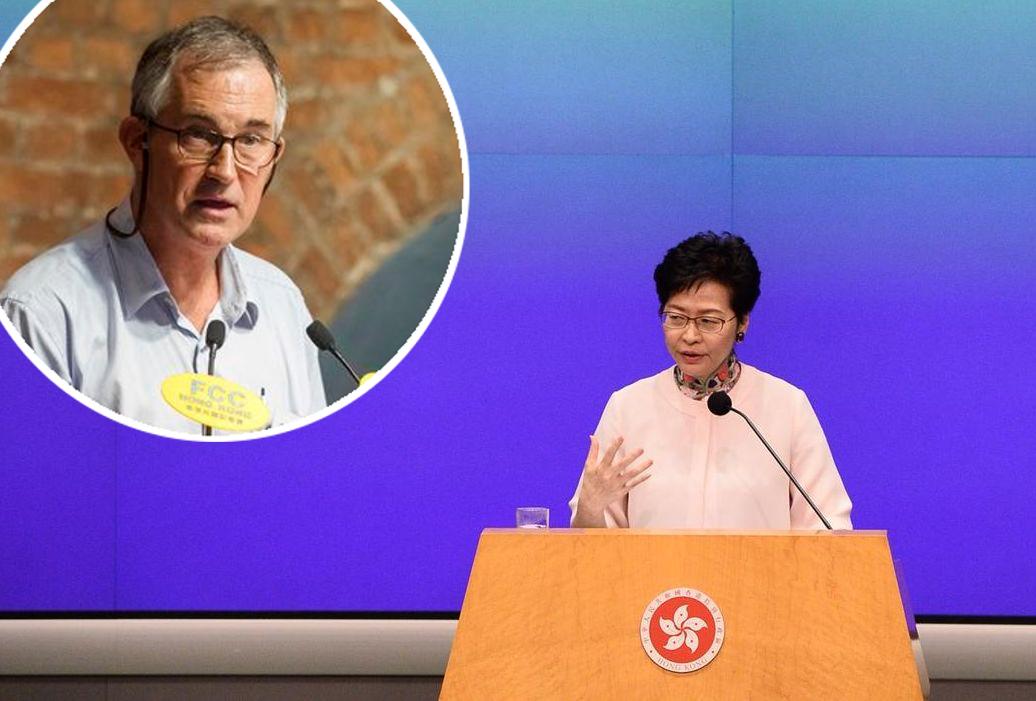 特首林鄭月娥指若美國利用馬凱事件威脅香港是不公道 。