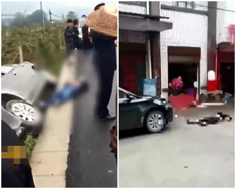 狠夫翻車受傷被捕。片段截圖