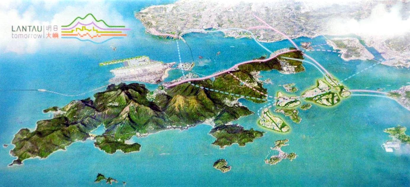 大嶼山發展後模擬圖
