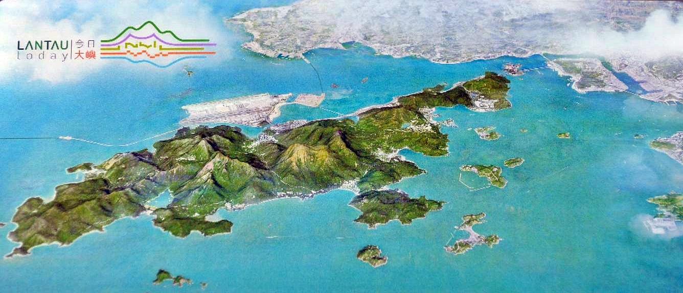 未填海的模擬圖。