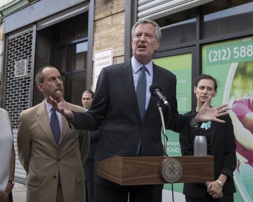 紐約市長白思豪。AP資料圖片