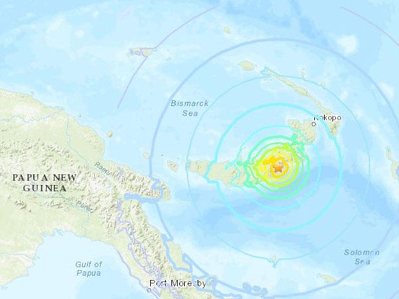 巴布亞新幾內亞發生7級地震。(網圖)