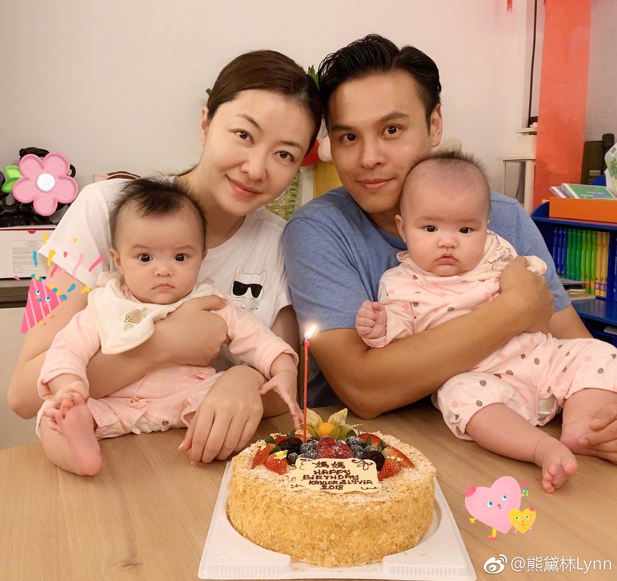 熊黛林生日與家人共度溫馨時刻。(微博圖片)