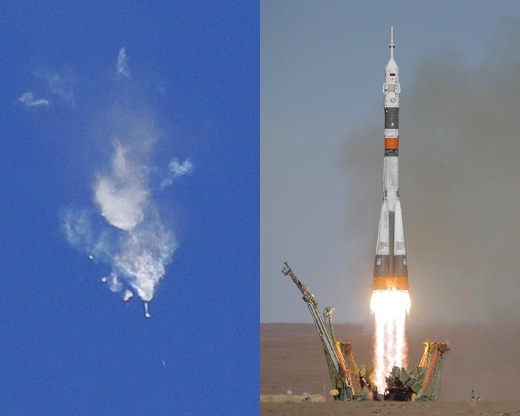 俄羅斯「聯盟號」火箭升空後引擎發生故障,船上2名太空人安全。AP