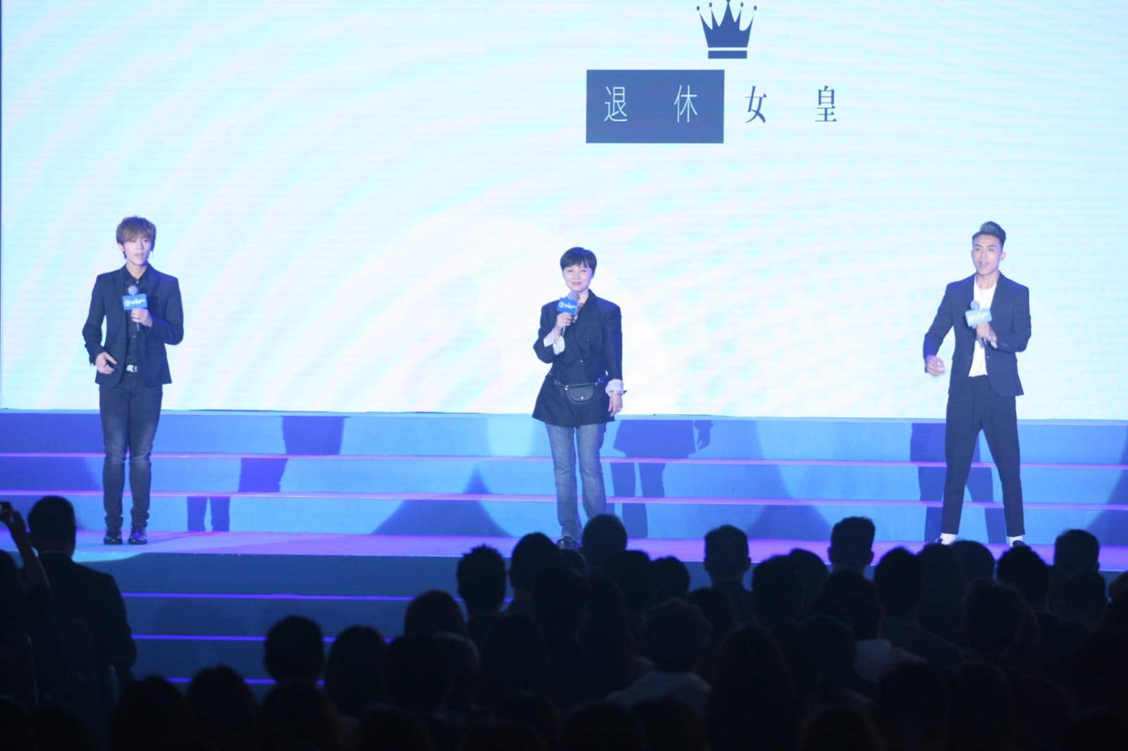 80年代無綫花旦景黛音與姜濤、Anson Kong合作。