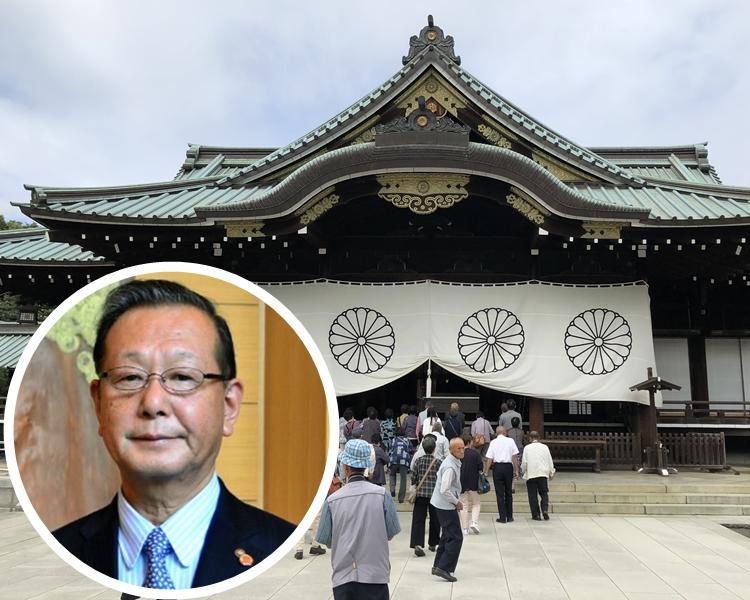 小堀曾批評日皇明仁「打算毀掉靖國神社」。