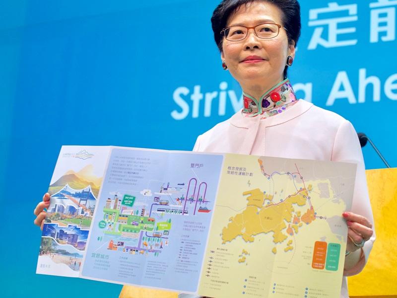 林鄭月娥公布「明日大嶼」計劃引起極大爭議。資料圖片