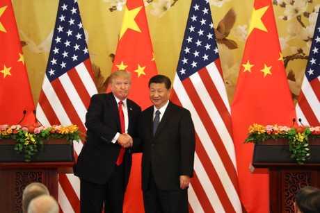 (左起)特朗普和習近平有望舉行雙邊會談。AP