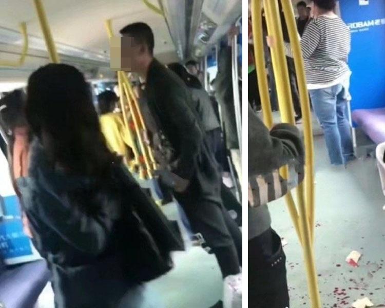 遼寧一男子給抱嬰婦讓座,引發妻子不滿,爆發矛盾。(網圖)