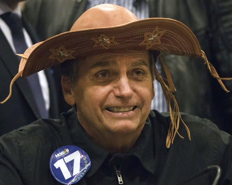 「巴西特朗普」之稱的極右候選人博爾索納羅表示仰慕特朗普。AP