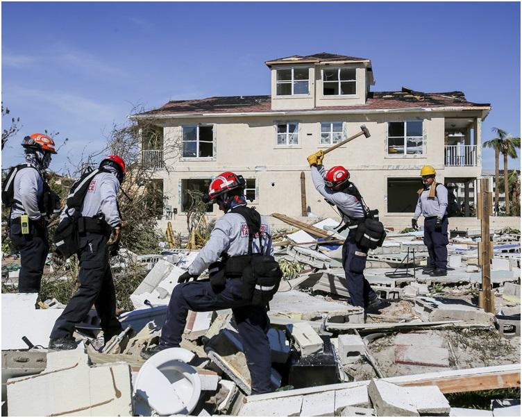 墨西哥滩数十座住宅、商店被毁。