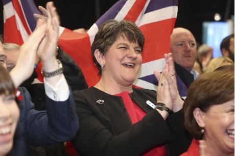 北爱尔兰民主联盟党党魁佛斯特。