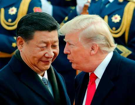 (左起)习近平与特朗普可能在下月的G20阿根廷峰会时举行双边会谈。