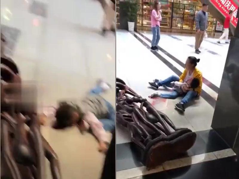男童被重達數噸的木雕壓死。(網圖)