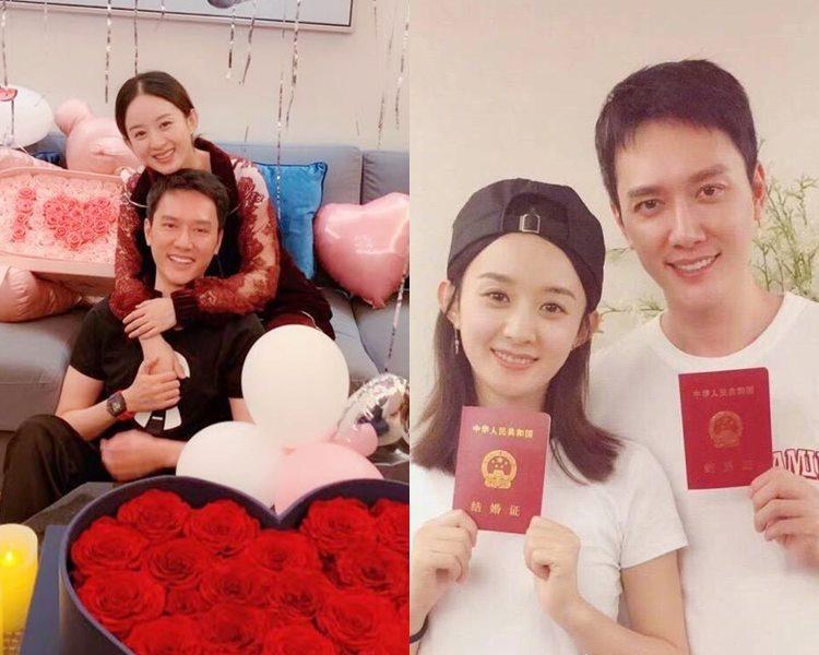 有指趙麗穎、馮紹峰上月已婚。(網圖)