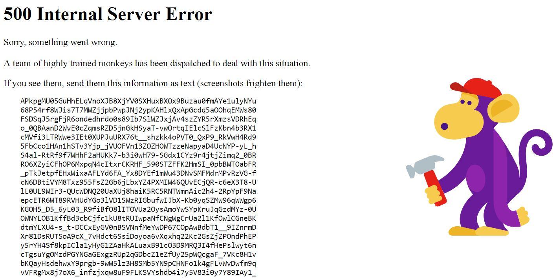 網站呈現一片亂碼。