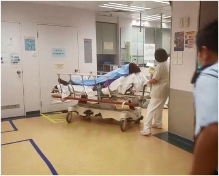傷者送院時昏迷。歐陽偉光攝
