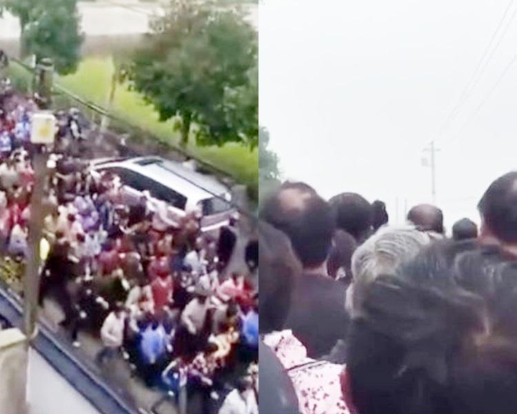 1500村民集體「射波」送行。網上圖片