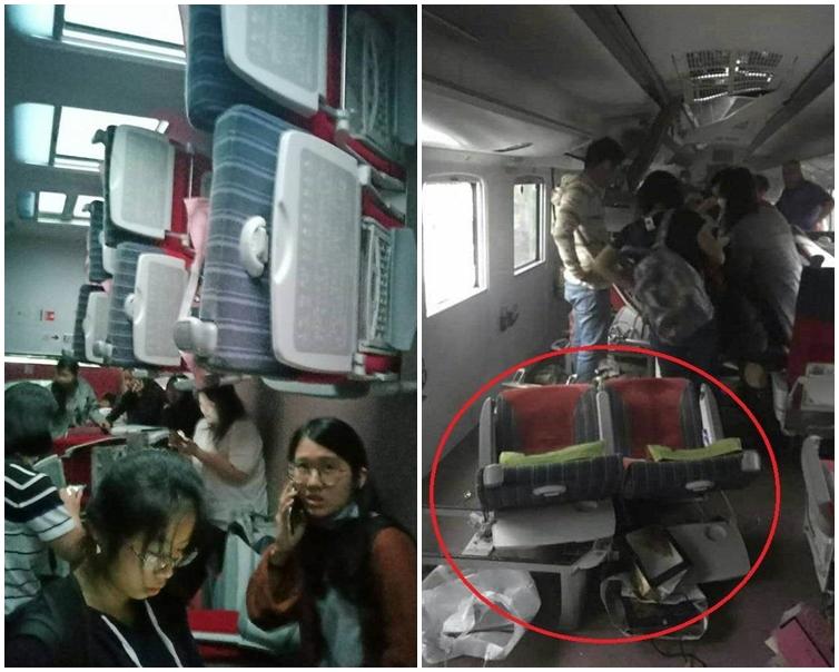 車廂內部損毀嚴重。朱總 fb圖片