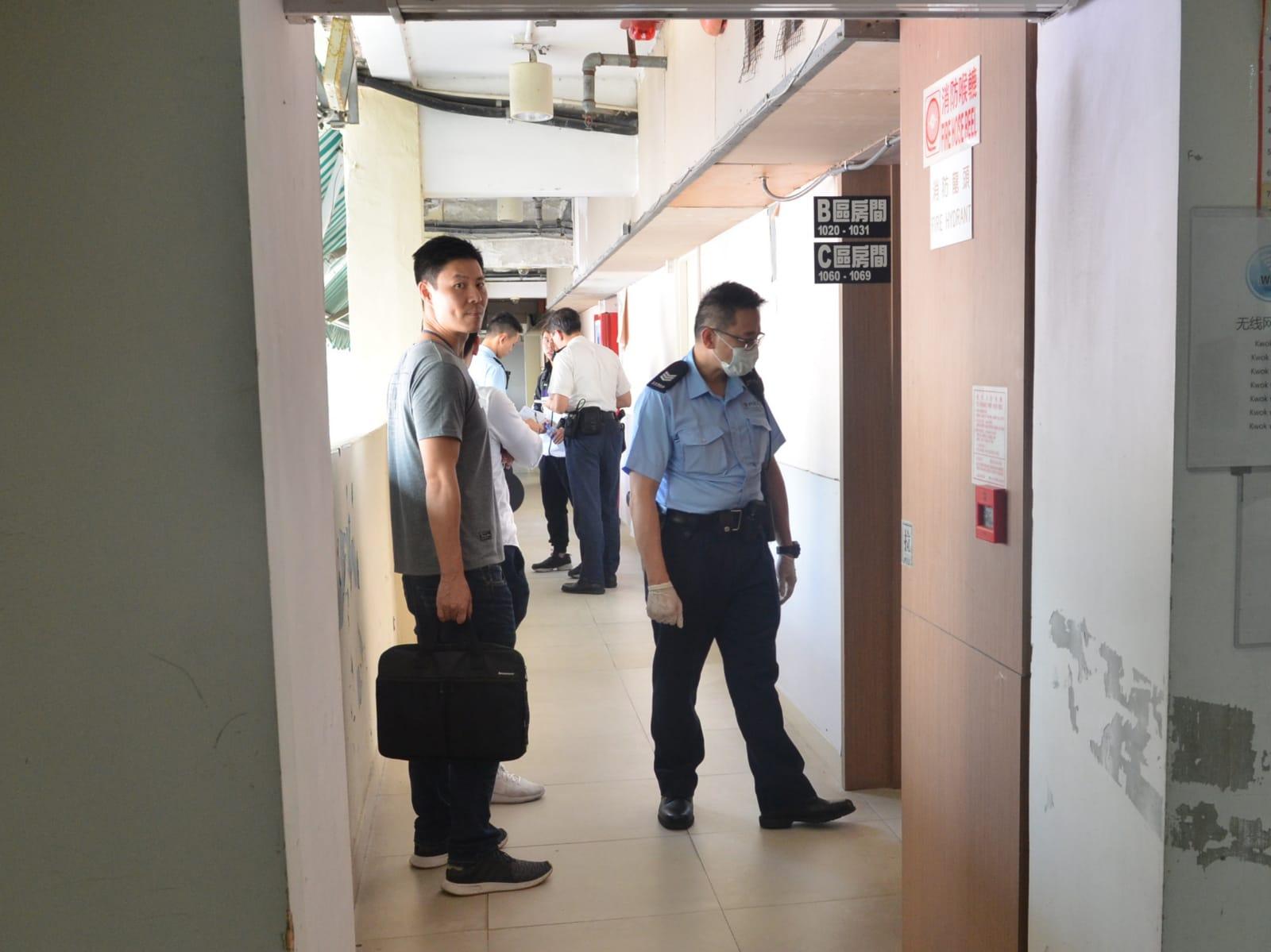 警員到場調查。