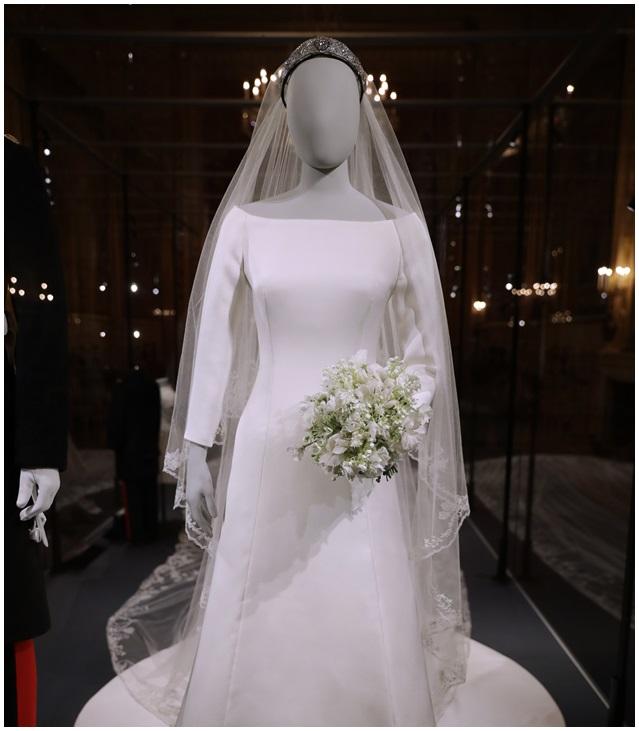 梅根的Givenchy婚紗。AP
