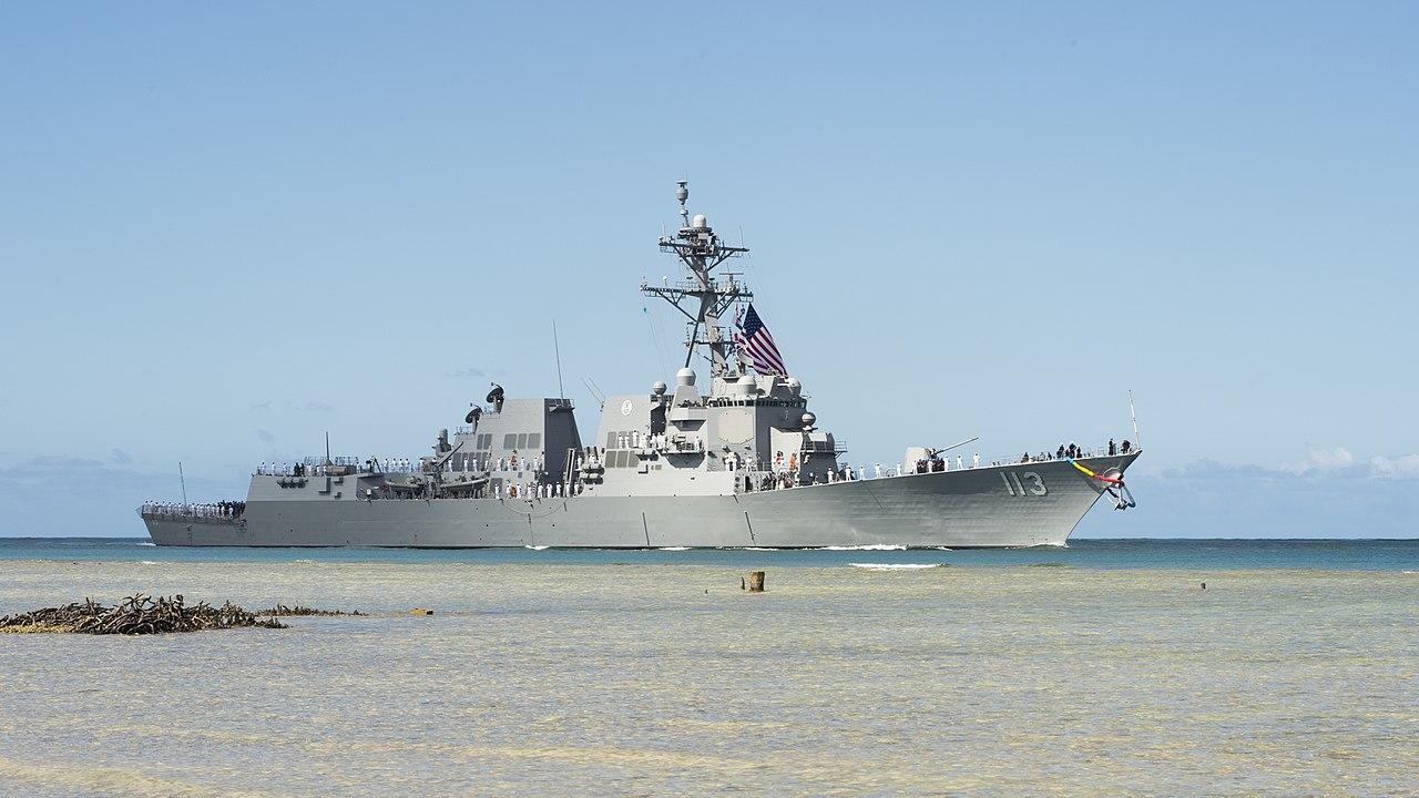 美军神盾驱逐舰芬恩号。网图