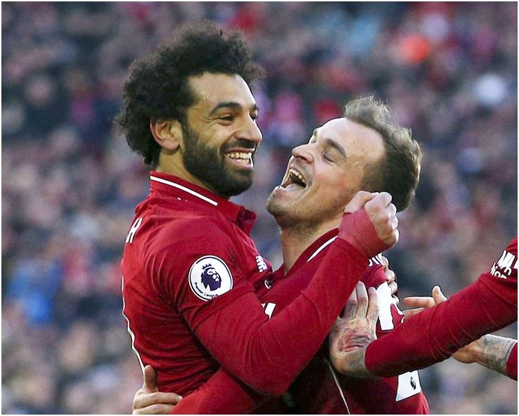 利物浦10战26分,在联赛榜升上榜首。AP