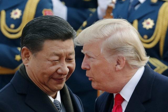 特朗普(左)與習近平下月在20國集團峰會期間會面。美駢社資料圖片