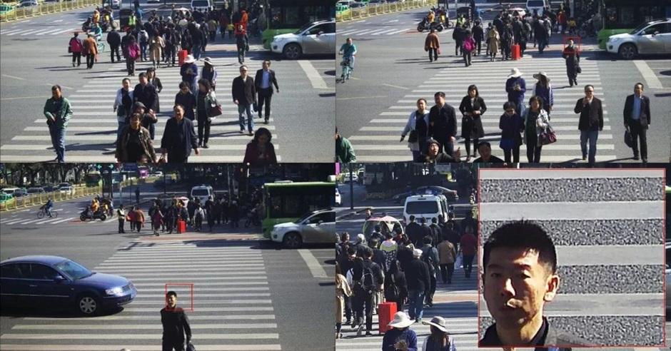西安交警推「人臉識別2.0」將衝紅燈者公諸於世。網上圖片