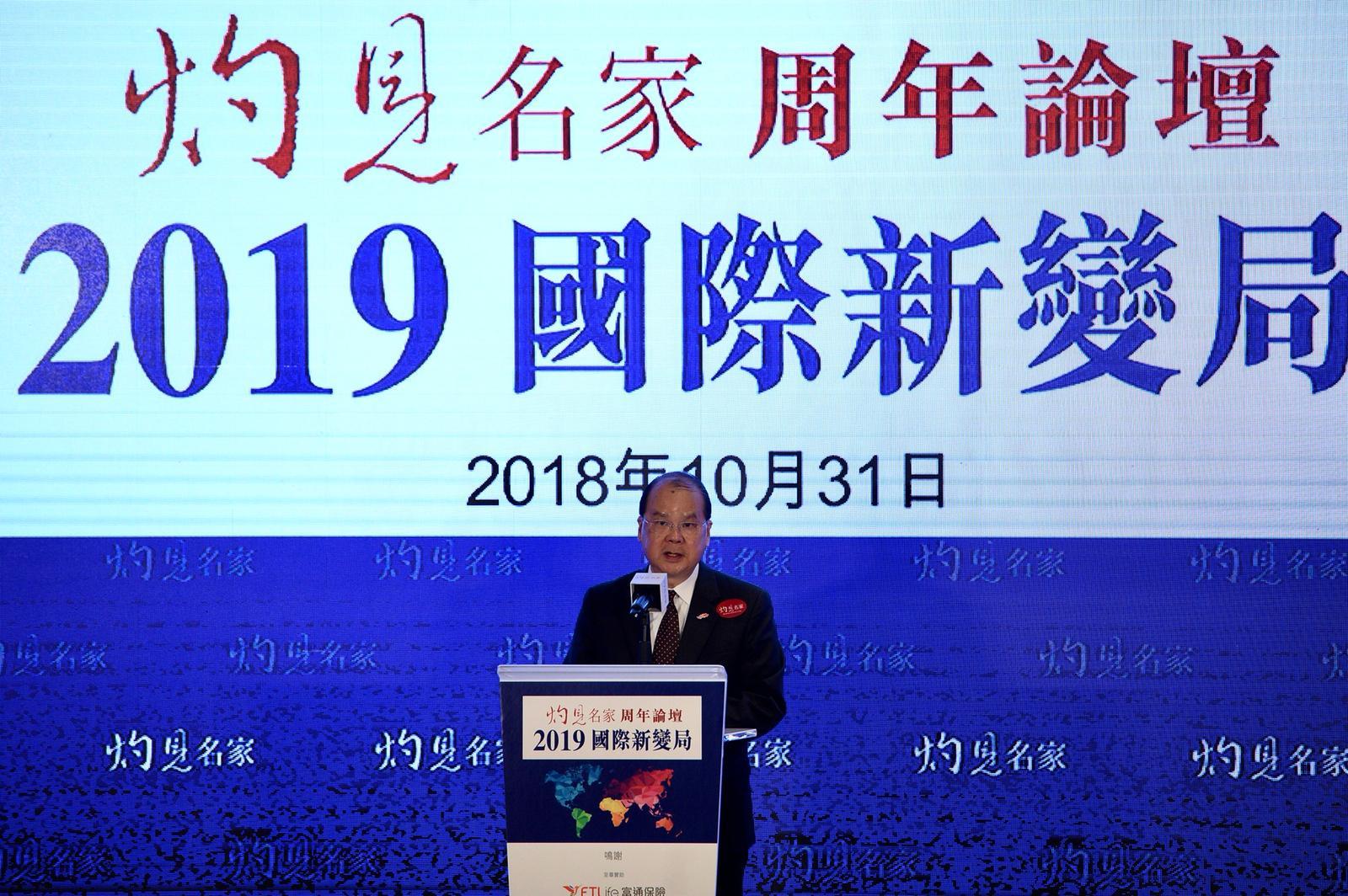 張建宗又期望各方透過雙邊洽談及世貿機制處理糾紛。盧江球攝