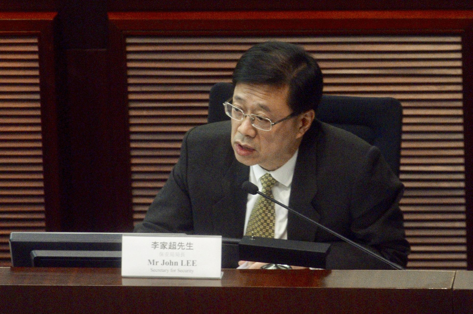 李家超指販運人口問題在香港並不普及。資料圖片