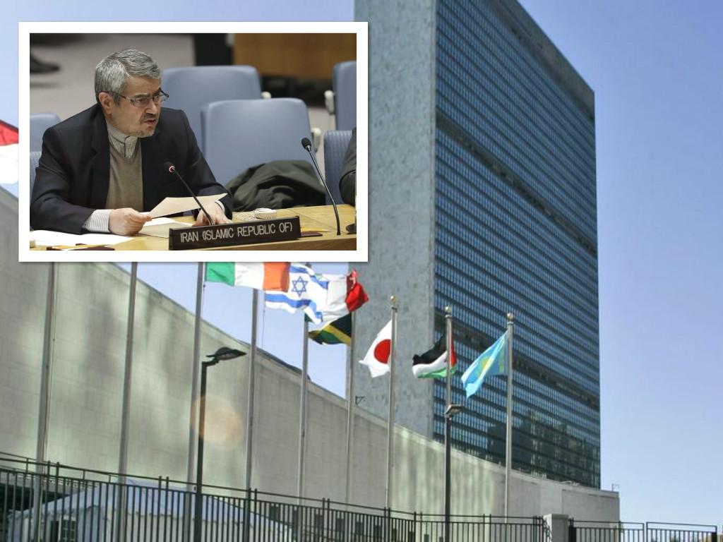 伊朗大使致函聯合國。AP資料圖片