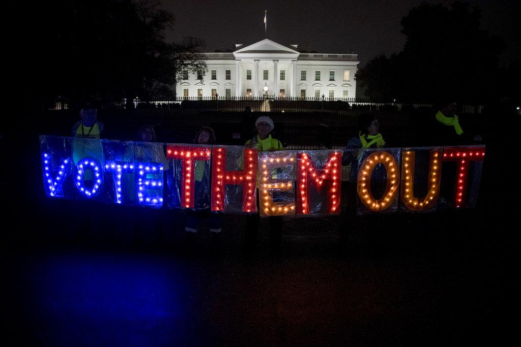 美國中期選舉開展。AP圖片