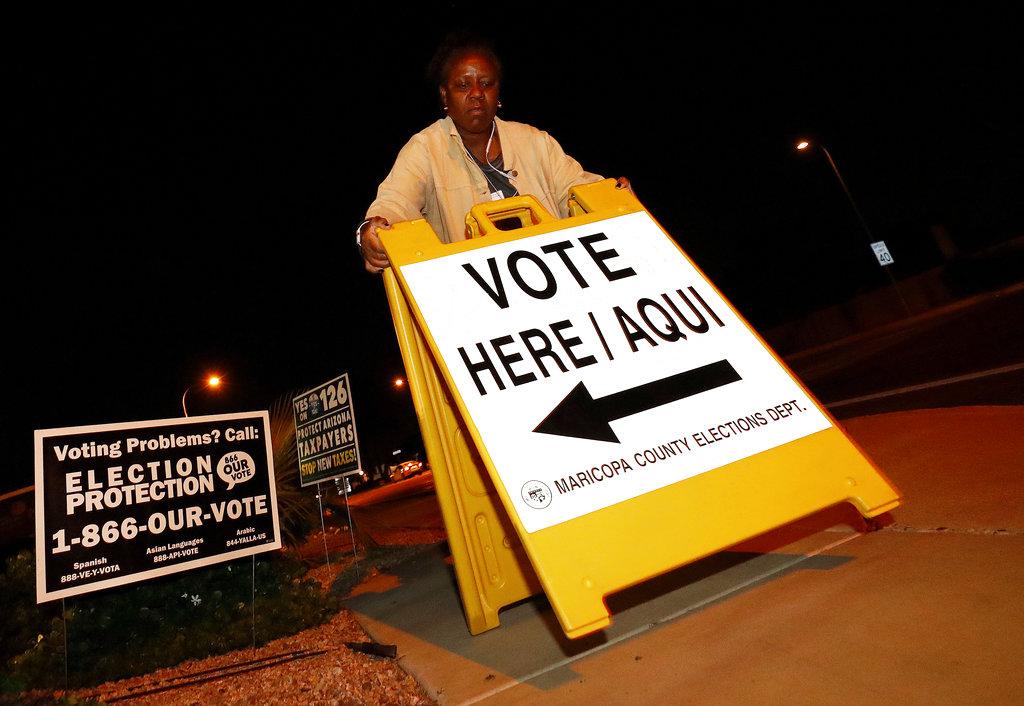 美國中期選舉已經開始投票。AP圖片