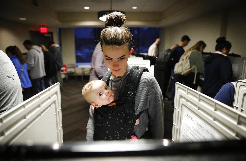 亞特蘭大選民投票。AP圖片