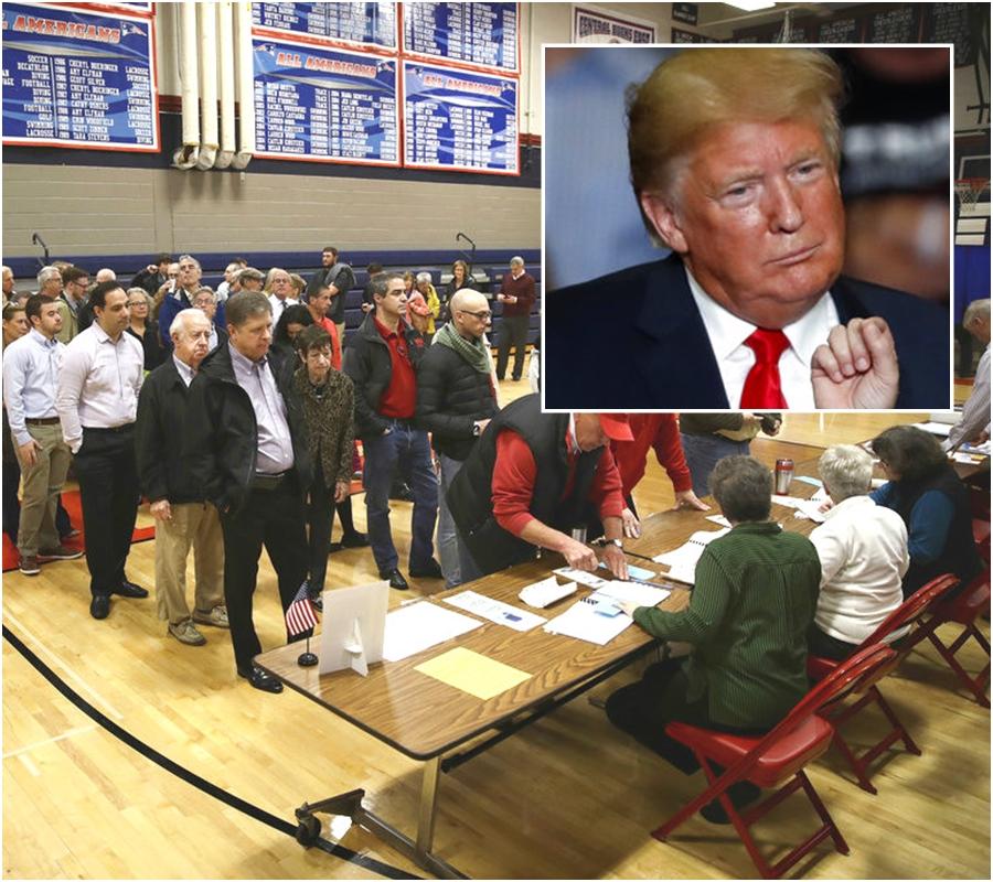 賓夕法尼亞州選民開始投票。AP