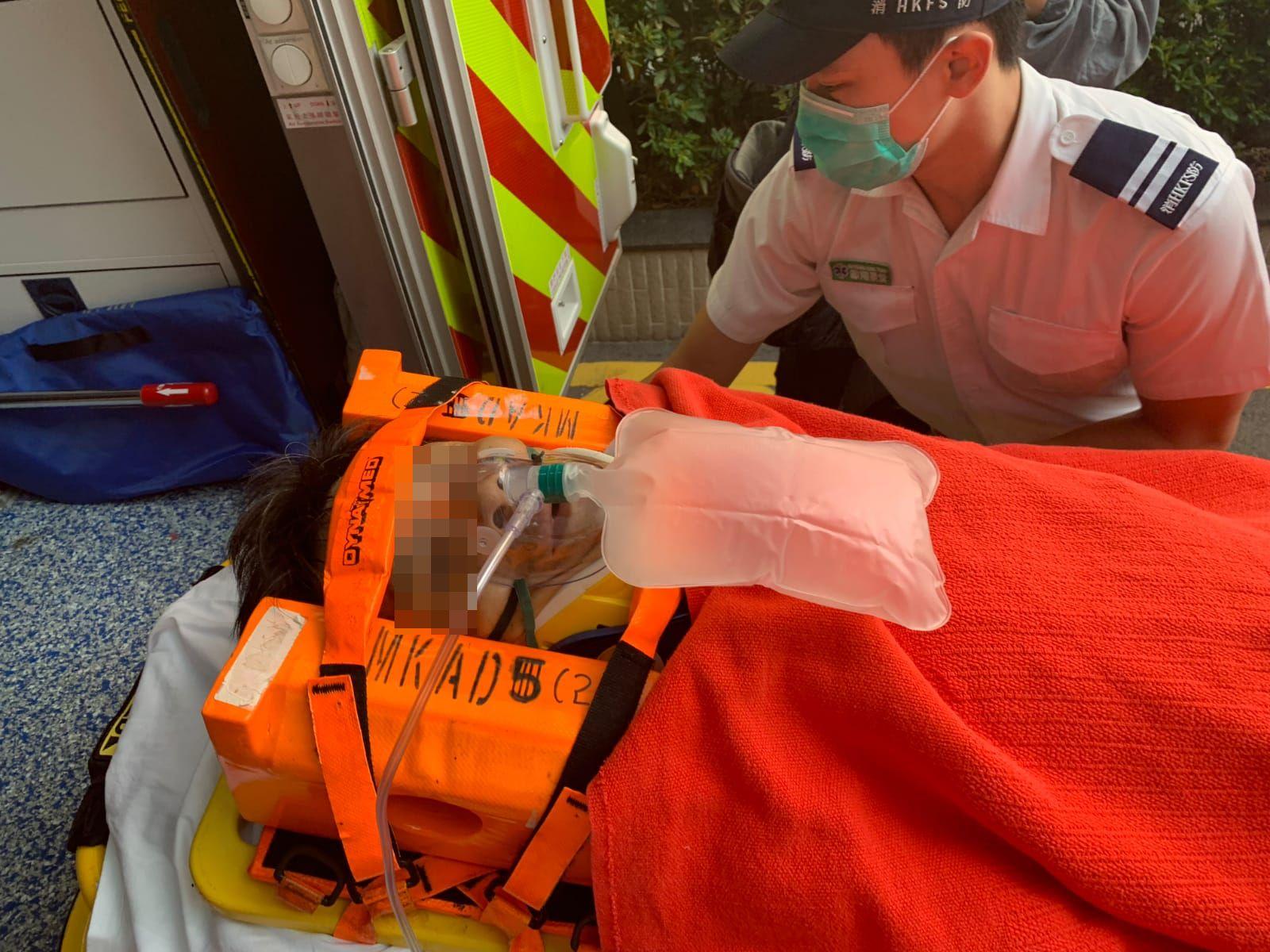 疑犯受傷送院。