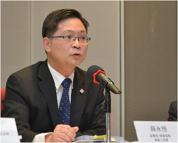 機電工程署署長薛永恒表示,區域供冷系統較傳統空調系統更具能源效益。 資料圖片