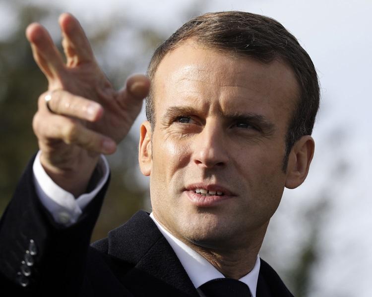 法國警方拘捕6人,懷疑他們策劃襲擊總統馬克龍。AP
