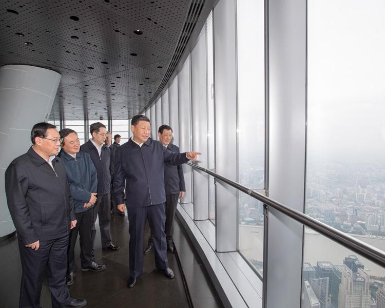 習近平考察上海時表示,希望上海成為全國改革開放的先鋒。新華社